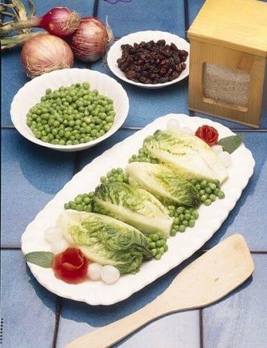 Cogollos rellenos de arroz y verduras