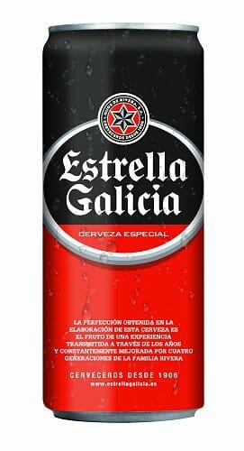 Lata sleek de 33 cl. de Estrella Galicia