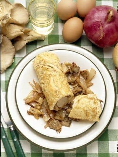 Rollito de tortilla y Wurstel blanco