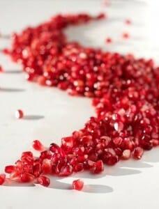 El color rojo de la granada se debe a la elevada presencia de antocianos