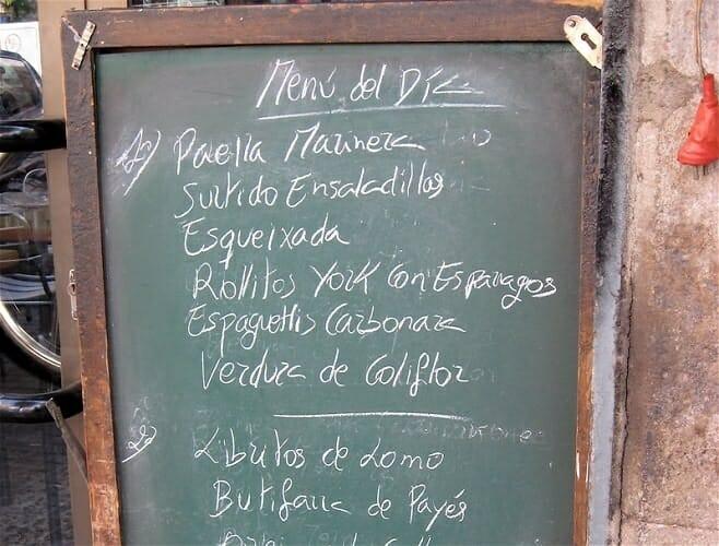 Los 12 mejores menús del día en Madrid