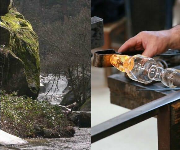 Las dos primeras paradas de la ruta son los Montes de Valsaín y la Real Fábrica de Cristales de La Granja