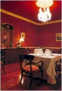 Detalle del interior del restaurante pacense Aldebarán
