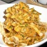 Tortilla de patata en tempura trufada