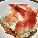 Huevos estrellados con jamón ibérico