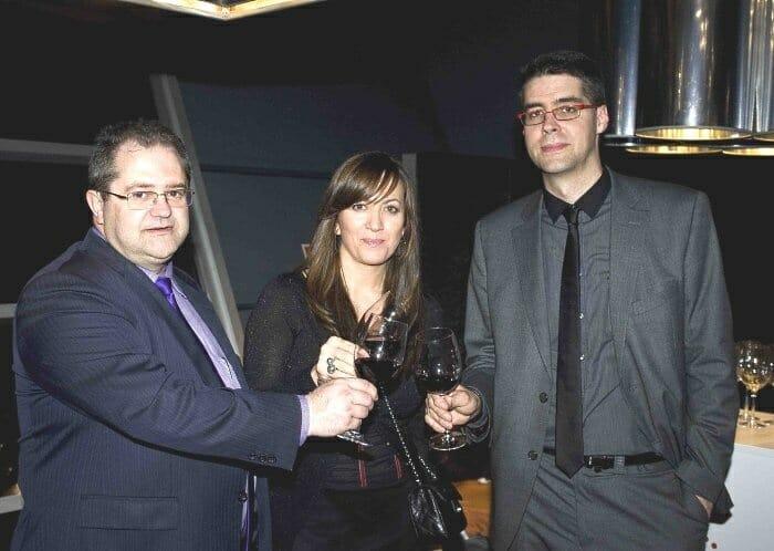 De izquierda a derecha: Juan Manuel Lavin, Isabel Muela y Hernando Lacalle