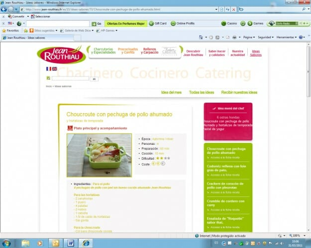 Ya se pueden cocinar los platos de Jean Routhiau a través de la red