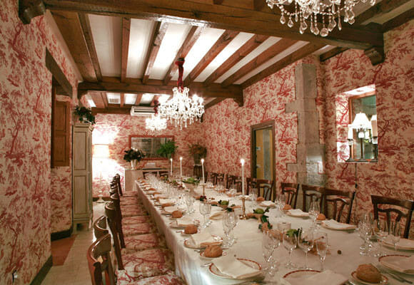 Sala de magnífica decoración del restaurante
