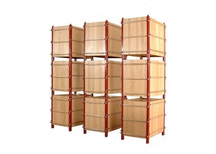 Las barricas cúbicas se ensamblan fácilmente y permiten optimizar el aprovechamiento de espacio