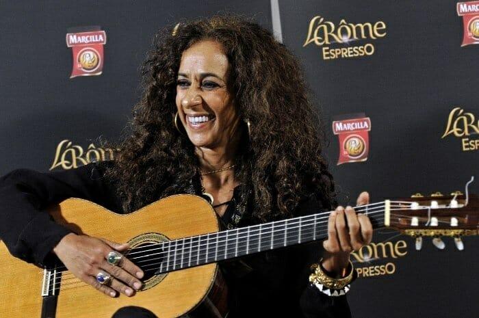 Rosario Flores durante la presentación en Barcelona