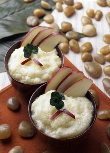 Mousse de manzana y menta fresca