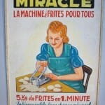 Este cartel es una muestra de la iconografía sobre la patata frita que se muestra en el Friet Museum
