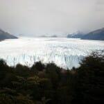 La vegetación, el glaciar y la roca