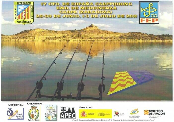 Cartel de presentación del IV Campeonato de Carpfishin