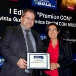 Juanma Lavín, presidente de la Ruta del vino de Rioja Alavesa recogió el premio a la Ruta Gastronómica CON mayor implicación en el territorio