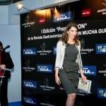 """Lola Martín, Directora de Comunicación de la Editorial Trea, tras recibir el premio a la editorial gastronómica CON más originalidad, por la colección """"La comida de la vida"""""""