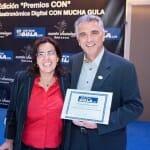 """Finalmente Rafael Expósito, director de Sopexa, recogió el premio a la Campaña de Comunicación CON mayor interactividad por """"¡Viva les fromages!"""""""
