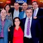 Fotografía del equipo de Con Mucha Gula durante la pasada edición de los Premios CON