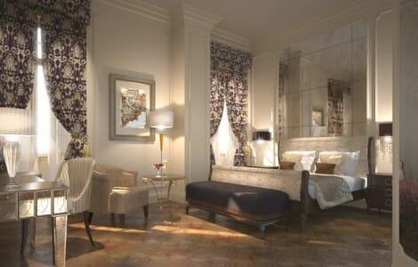 Detalle de una suite del Hotel InterContinental de Portugal