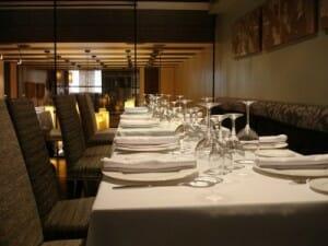 Detalle de la sala del Restaurante Brookei