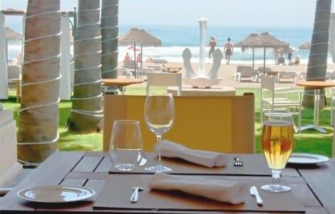 Vista desde una de las mesas del Club de Mar
