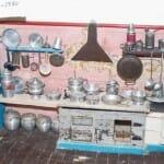 Cocina de juguete en el Museo del Vino y la Vida Rural del Caserío de Sisternas