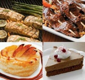 Detalle de algunas de las recetas que se pueden preparar con Pama