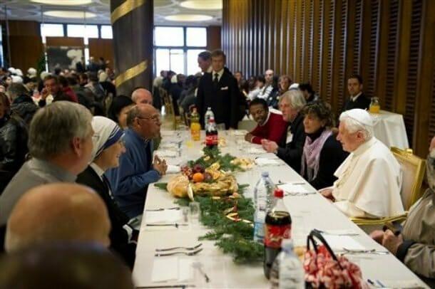 De la cocina española el Papa valora la paella, las sopas frías poco especiadas, la tortilla de patata y los mariscos