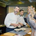 Pepe Solla, en la cocina de Casa Solla