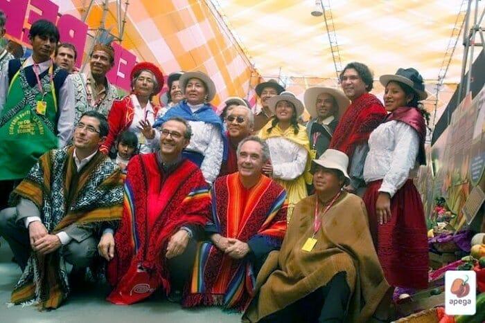 Los integrantes del G-9, a su llegada a Mistura (Imagen: APEGA)