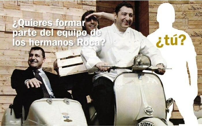 El ganador del concurso podrá pasar una velada única cocinando al lado de los hermanos Roca y disfrutar a continuación de una cena en su restaurante