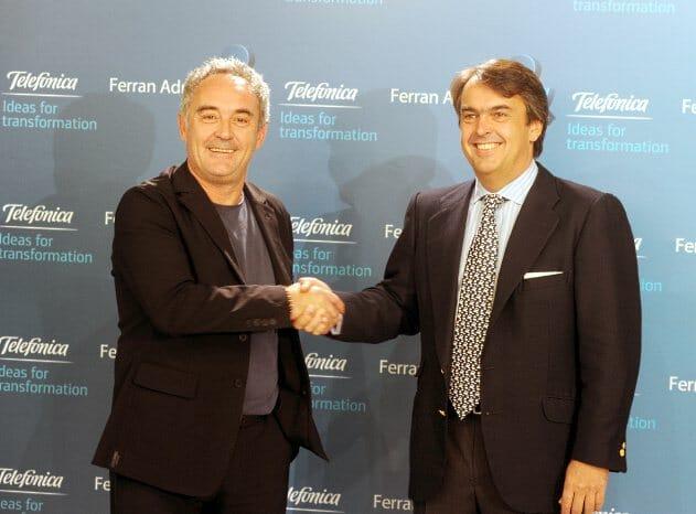Ferran Adrià y Antonio Botas, director de Patrocinios y Publicidad de Telefónica S.A.