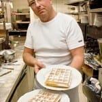 Jan Gheysens, todo un artista de los gofres, en la cocina de Max Café