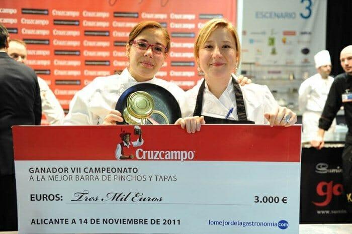 Angie Ruiz y Estíbaliz Pérez, de Marmitaco