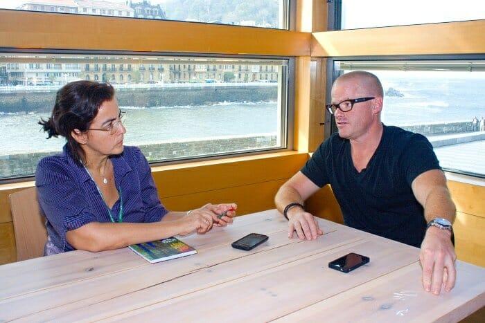 Heston Blumenthal, durante la entrevista