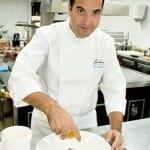 Óscar Velasco, en la cocina de Santceloni