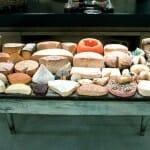 Detalle del espectacular carro de quesos de Santceloni