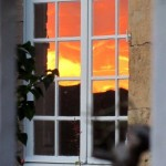 Atardecer en la ventana. Vézelay