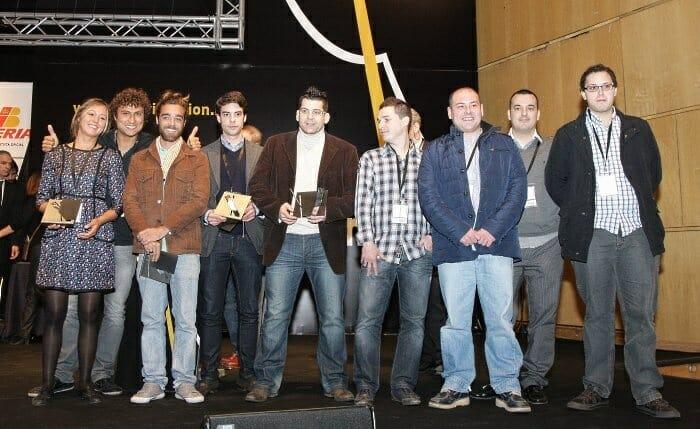 Foto de familia del Premio al Cocinero Revelación 2012