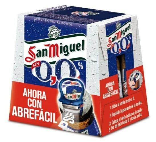 Pack de botellines con abre-fácil San Miguel 0.0%