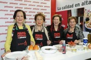 Teresa Huertas, madre de  Mario Sandoval;  Marisa Sánchez, madre de Francis Paniego; Amelia González, madre de Pepe Solla; y Montserrat Fontané, madre de los hermanos Roca