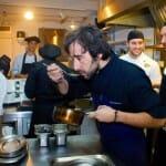 Diego Guerrero, en la cocina de El Club Allard