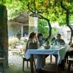 Terraza del Restaurante Lagar en Eiras