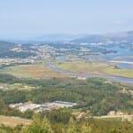 Desembocadura del río Miño desde el Monte de Santa Tecla, en A Guarda