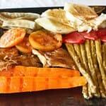Parrillada con verduras de la huerta del pueblo (Restaurante Abadía Das Eiras)