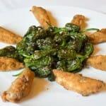 Xoubas con pimientos (Restaurante Villaverde)