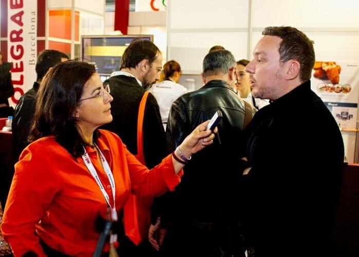 Tuvimos la oportunidad de hablar con Albert Adrià durante nuestra visita a Alimentaria 2012