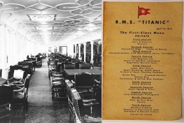 Leana ofrece un interesante paquete que incluye además la cena del Titanic, 100 años después