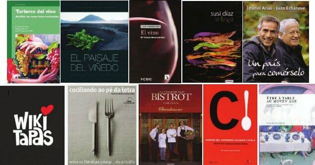 Montaje con las diez obras españolas galardonadas en los Premios Gourmand 2012