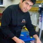 Miguel Ángel Valdiviezo en la cocina de Tampu